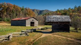 Old Barns In Cades Cove Autumn Royalty Free Stock Photos
