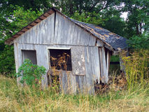 Old barnwood shed 1 Royalty Free Stock Image