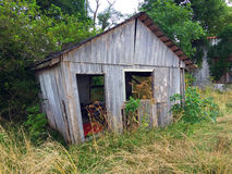 Old barnwood shed 2 Royalty Free Stock Image