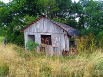 Old barnwood shed 3 Royalty Free Stock Images