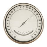 Old barometer isolated Royalty Free Stock Photography