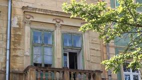Old Baroque Balcony stock footage