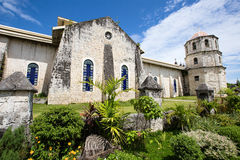 Old baroque church in Philippines. Royalty Free Stock Photo