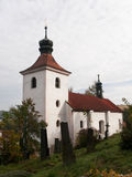 Old baroque church. Church of St. Simon and Judy in Tynec nad Sazavou, Czech republic Royalty Free Stock Photography