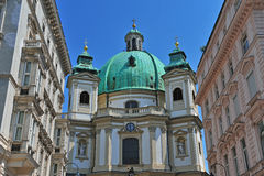 Old baroque church Royalty Free Stock Photo
