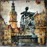 Old baroque Dresden Royalty Free Stock Photos