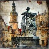 Old baroque Dresden royalty free stock photos