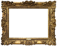 Old Baroque Gold Frame. Gold antique baroque frame  isolated on white background Royalty Free Stock Photography