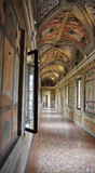 Old baroque palace gangway in Mantua Italy. Stock Photo