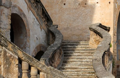 Old baroque stairway Royalty Free Stock Photos