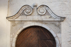 The old Baroque town house, entrance to the house. Royalty Free Stock Image