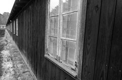 Old barracks in concentration camp Stutthof Royalty Free Stock Photo
