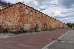 Old barracks in Omsk Royalty Free Stock Photography