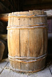 Old barrel. In housefarm stock image