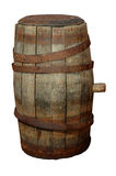 OLD BARREL. On the white background Royalty Free Stock Image