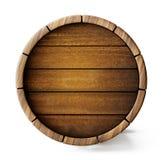 Barrel. Old barrel background isolated on white. 3d illustration stock illustration