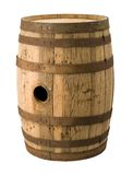 Old Barrel with a clipping path Stock Photos