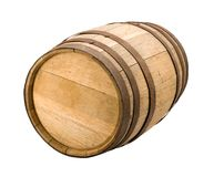 Old Barrel with a clipping path. Old Barrel isolated with clipping path. Isolation is on a transparent layer in the PNG format stock photography