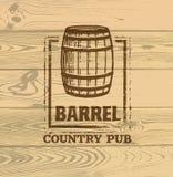 Old Barrel Creative Vector Sign. Stamp Design Element Concept On Grunge Distressed Background.  royalty free illustration