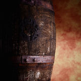 Old barrel detail Stock Photography