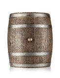 Old barrel with iron hoops Royalty Free Stock Photography