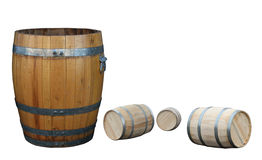 Old barrel and new  barrels Royalty Free Stock Images