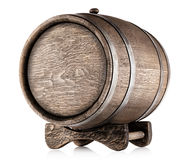 Old barrel on stand Stock Image