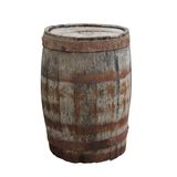 Old barrel  white background Stock Images