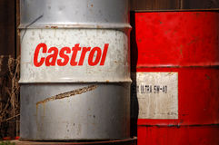 Old oil barrels Royalty Free Stock Photography