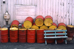 Old Barrels In The Harbor Royalty Free Stock Photo