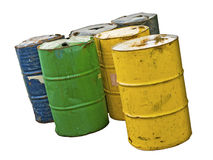Old Barrels Isolated Stock Photography