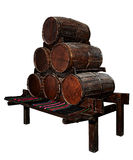 Old barrels isolated Stock Images