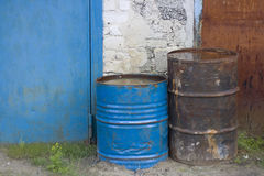Old barrels (outdoor detail) Stock Images
