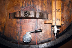 Old barrels in a wine cellar Royalty Free Stock Photo