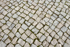 Old basalt pavement Stock Images
