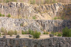 Old basalt quarry Royalty Free Stock Photography
