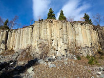 Old Basalt Quarry In The Ore Mountains - basalt columnar jointin Royalty Free Stock Photography