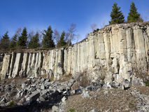 Old basalt quarry in The Ore Mountains Stock Photography