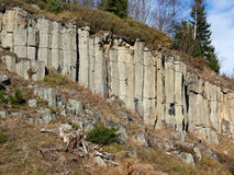Old Basalt Quarry In The Ore Mountains Stock Images