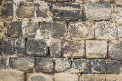 Old basalt stone wall texture Royalty Free Stock Photos