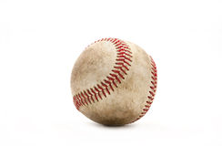 Old Baseball. On white background Royalty Free Stock Photo