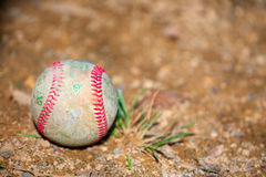 Old baseball ball Stock Images