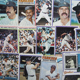 Old Baseball Cards. A group of old, 1970s era baseball cards of the New York Yankees Stock Photo
