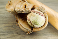 Old Baseball Equipment Royalty Free Stock Image