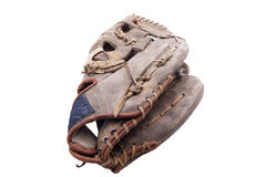 Old baseball glove. Isolated on white Stock Images