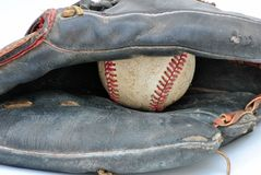 Old Baseball Glove Royalty Free Stock Image
