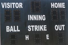 Old Baseball Scoreboard Stock Image