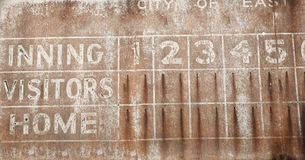 Old Baseball Scoreboard Background Royalty Free Stock Photography