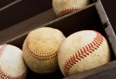 Old baseballs Royalty Free Stock Photos