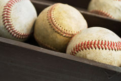 Old baseballs-2 Stock Images